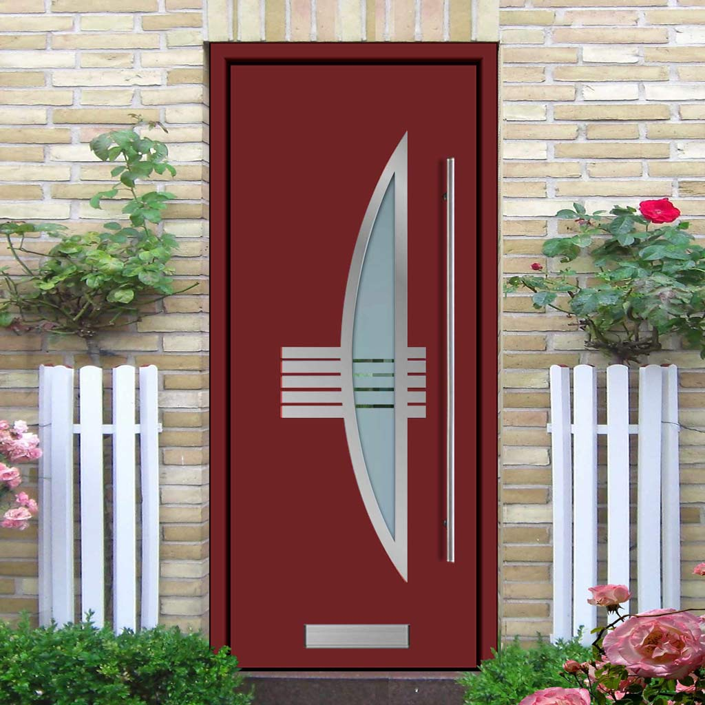 External Spitfire Aluminium S-200 Door - 1330 Stainless Steel - 7 Colour Options
