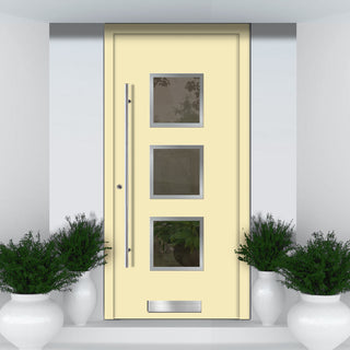 Image: External Spitfire Aluminium S-200 Door - 1360 Stainless Steel - 7 Colour Options