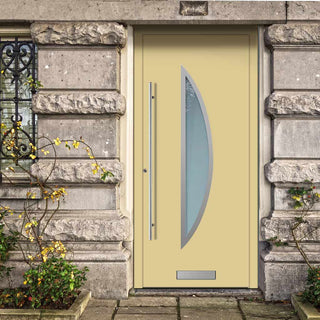 Image: External Spitfire Aluminium S-200 Door - 1366 Stainless Steel - 7 Colour Options