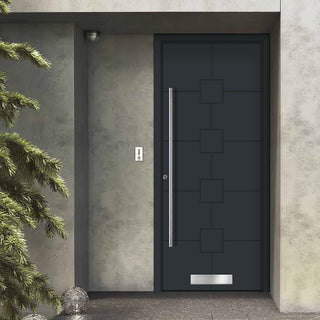 Image: External Spitfire Aluminium S-200 Door - 1710 CNC Grooves Solid - 7 Colour Options