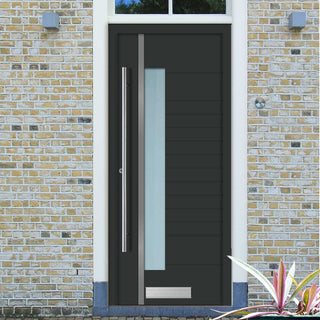 Image: External Spitfire Aluminium S-200 Door - 1747 CNC Grooves & Stainless Steel - 7 Colour Options