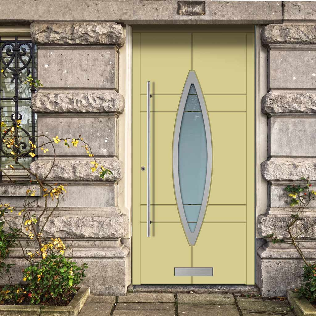 External Spitfire Aluminium S-200 Door - 1752 CNC Grooves & Stainless Steel - 7 Colour Options