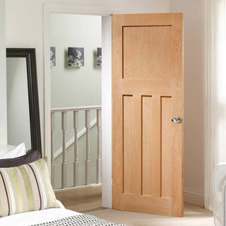 Image: DX 1930'S Oak Panel Door - Prefinished