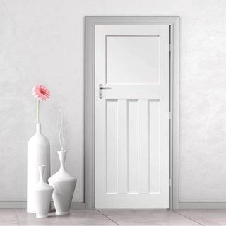 Image: DX White Fire Door - 1/2 Hour Fire Rated - White Primed