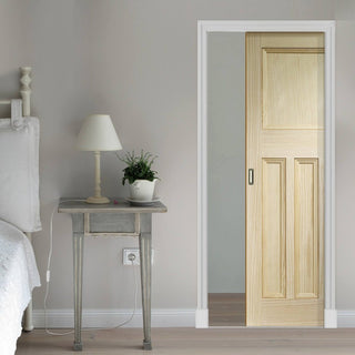 Image: Vine DX Clear Pine Solid Single Evokit Pocket Door