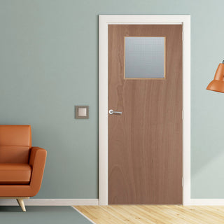 Image: JELD-WEN Paint Grade FD30 GG01 Glazed Fire Door