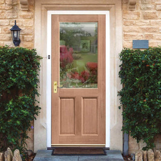 Image: 2XG External Hardwood 2P Door - Clear Double Glazing