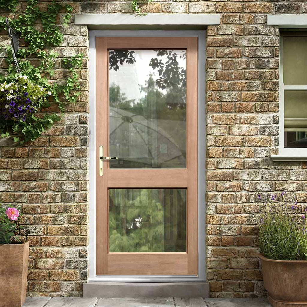2XGG Exterior Mahogany Door - Fit Your Own Glass, From LPD Joinery
