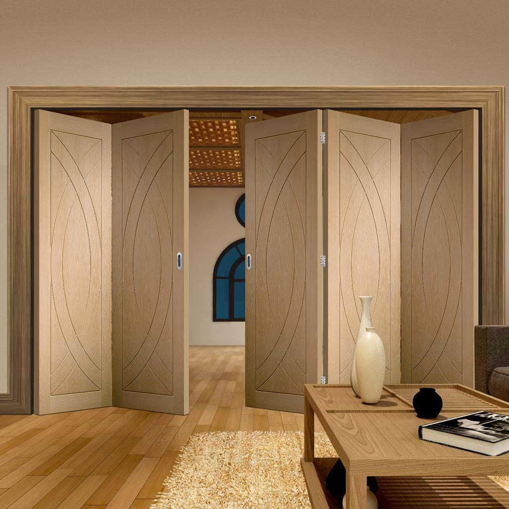 Bespoke Thrufold Treviso Oak Flush Folding 3+2 Door