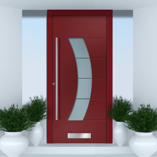Image: External Spitfire Aluminium S-200 Door - 43804 CNC Grooves - 7 Colour Options