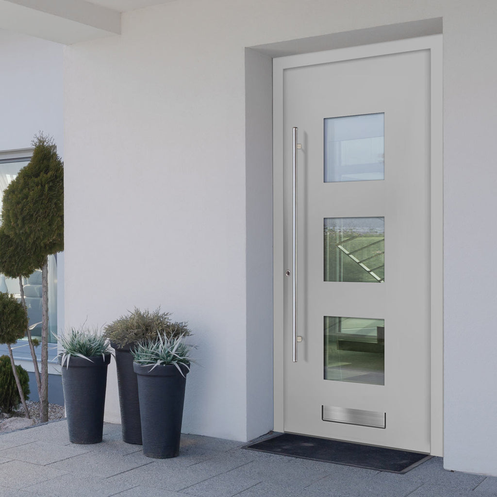 External Spitfire Aluminium S-200 Door - 43806 Plain - 7 Colour Options