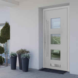 Image: External Spitfire Aluminium S-200 Door - 43806 Plain - 7 Colour Options