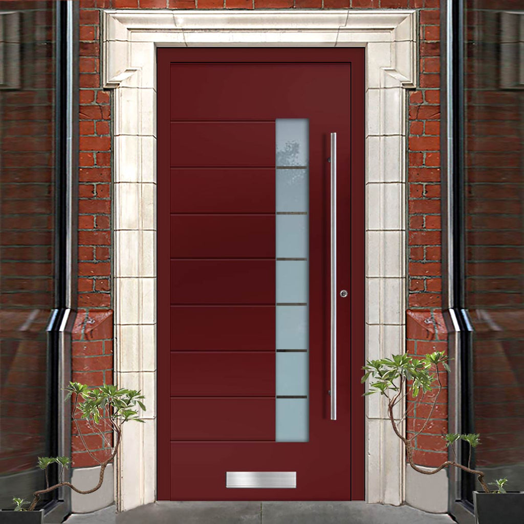 External Spitfire Aluminium S-200 Door - 43807 CNC Grooves - 7 Colour Options