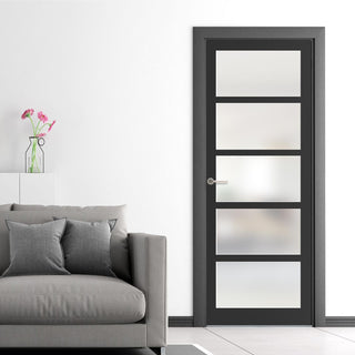 Image: Bespoke loft style, glazed industrial door perfect for contemporary interior