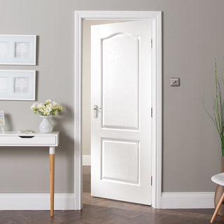 Image: JELD-WEN INTERNAL Camden Woodgrain Door - Primed - Moulded Range