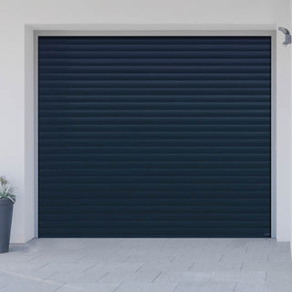 Image: Gliderol Electric Insulated Roller Garage Door from 1900 to 2134mm Wide - Dark Blue
