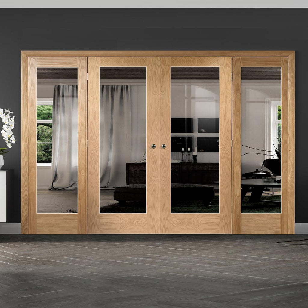Easi-Frame Oak Door Set - GOSHAP10-COEOP8 - 2005mm Height - 2976mm Wide.