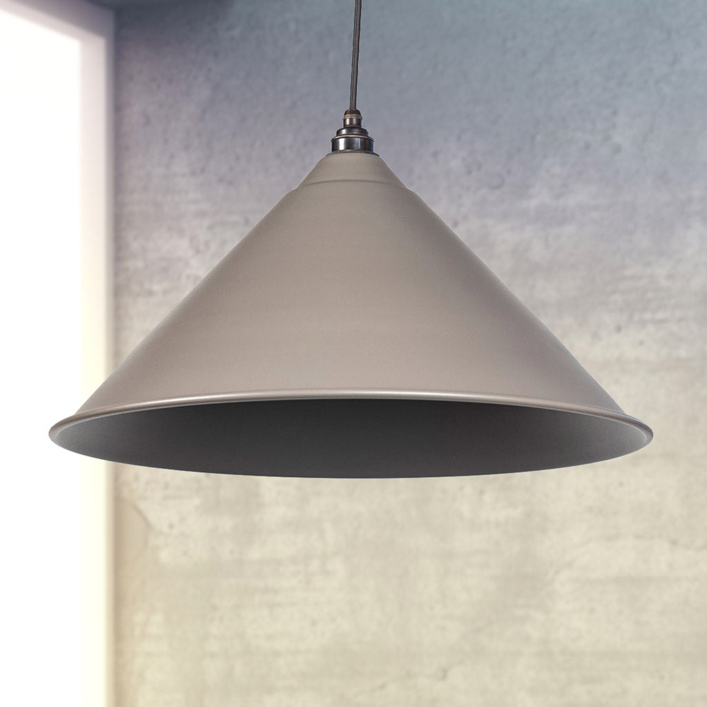 Warm Grey Full Colour Hockley Pendant Ceiling Light Fitting