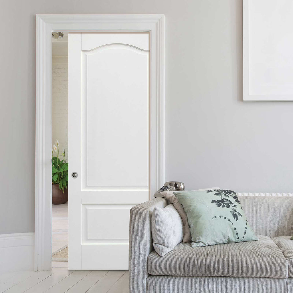 Kent 2 Panel Single Evokit Pocket Door - White Primed