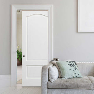 Image: Kent 2 Panel Single Evokit Pocket Door - White Primed