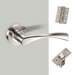 Image: Lupus Door Handle Pack - Satin Chrome