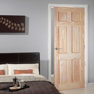 Image: 6 Panel Pine Door - Raised & Fielded Panels