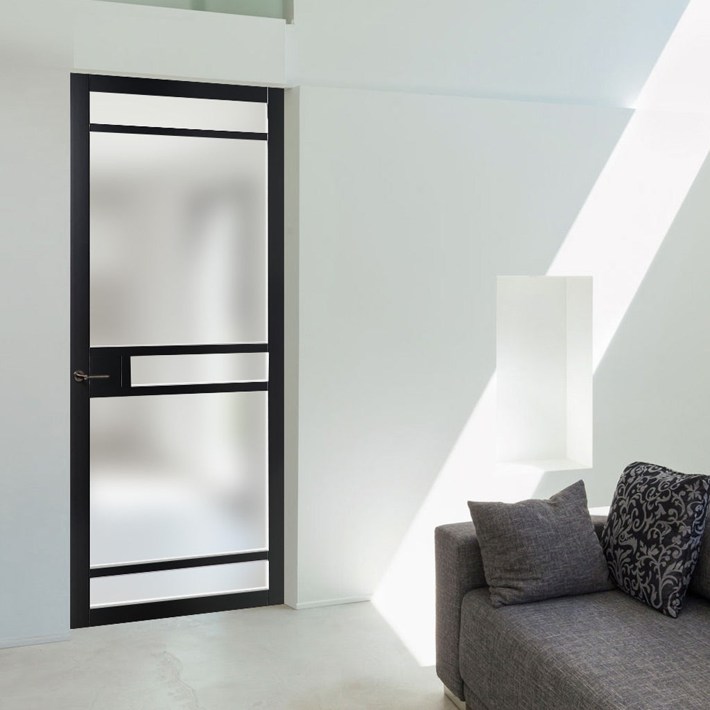 Bespoke loft style, glazed industrial door perfect for contemporary interior