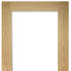 Walden Real American Oak Veneer Unico Evo Pocket Door Detail - Clear Glass - Unfinished