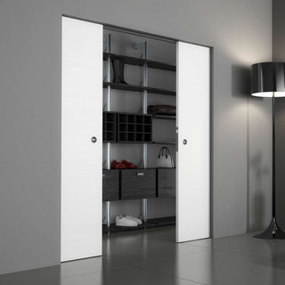 Image: Ermetika Absolute Evokit - Frameless Pocket System for Double Doors