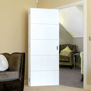 Image: Thrufold Adelphi White 2+0 Folding Door