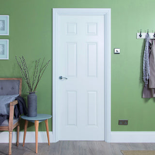 Image: Jeldwen Internal Arlington Smooth Door - White - Moulded Range