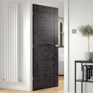 Image: J B Kind Laminates Alabama Cinza Dark Grey Coloured Door - Prefinished
