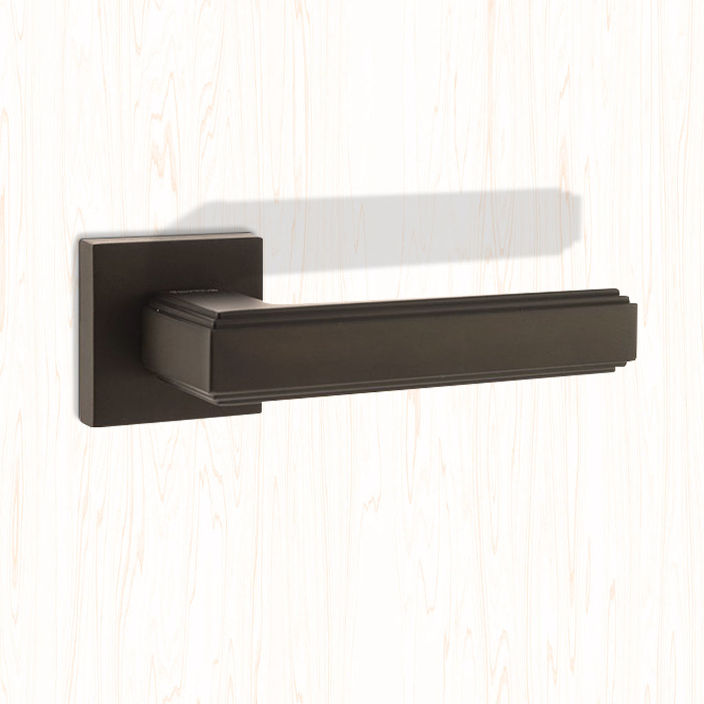 Forme Alila Designer Lever on Minimal Square Rose - Urban Dark Bronze