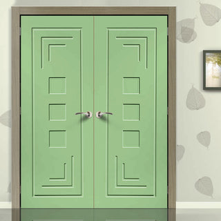 Image: Prefinished Altino Flush Door Pair - Choose Your Colour