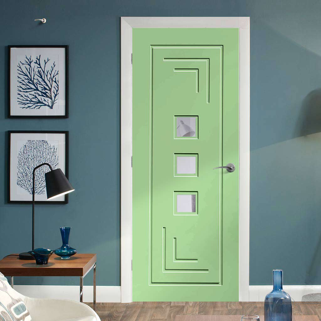Designer painted interior door available in five colour options
