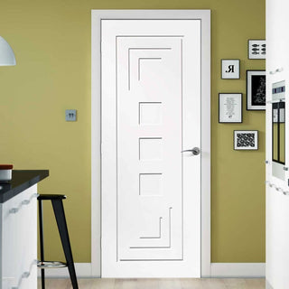 Image: Bespoke Altino Flush Door - White Primed - From Xl Joinery