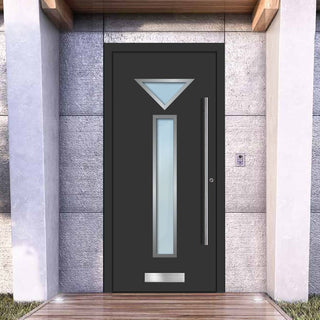 Image: External Spitfire Aluminium S-200 Door - 1363 Stainless Steel - 7 Colour Options