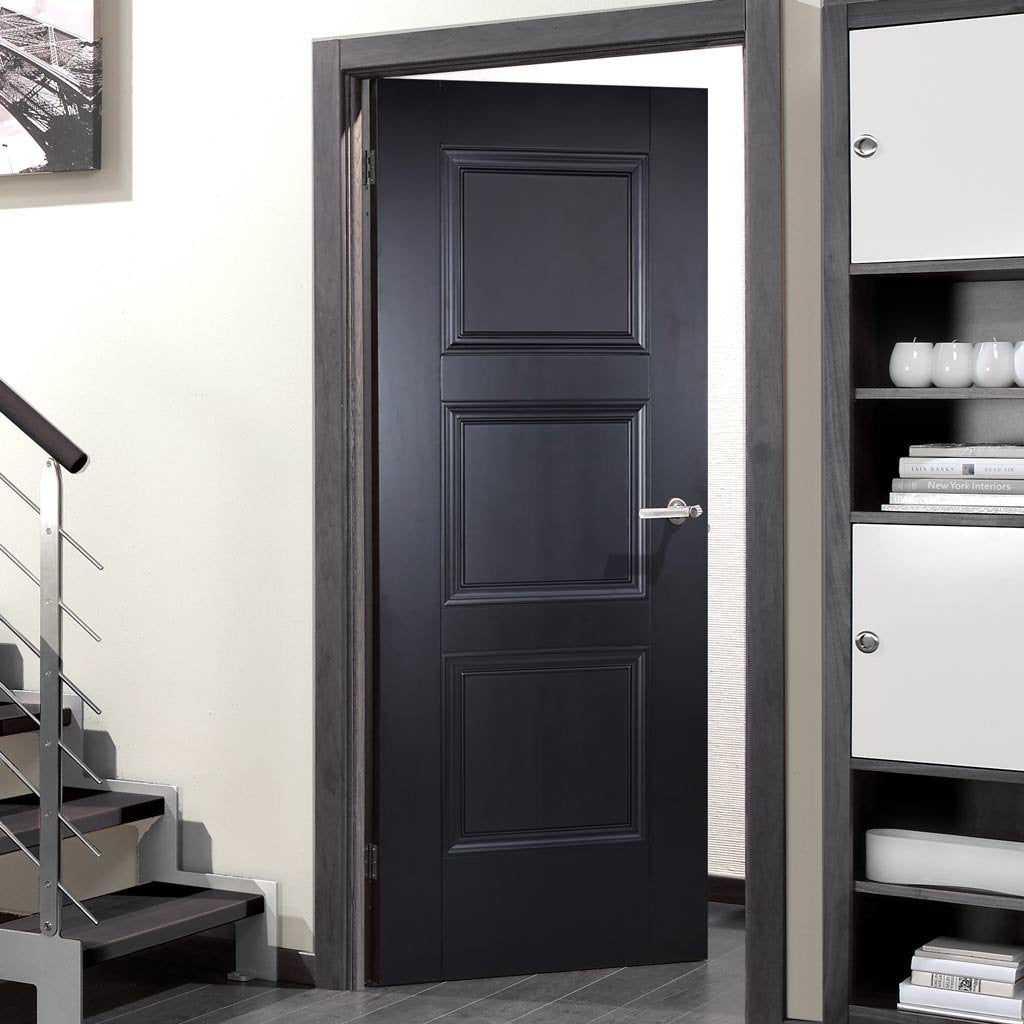 hot sale online 22558 a045a Amsterdam 3 Panel Black Primed Door