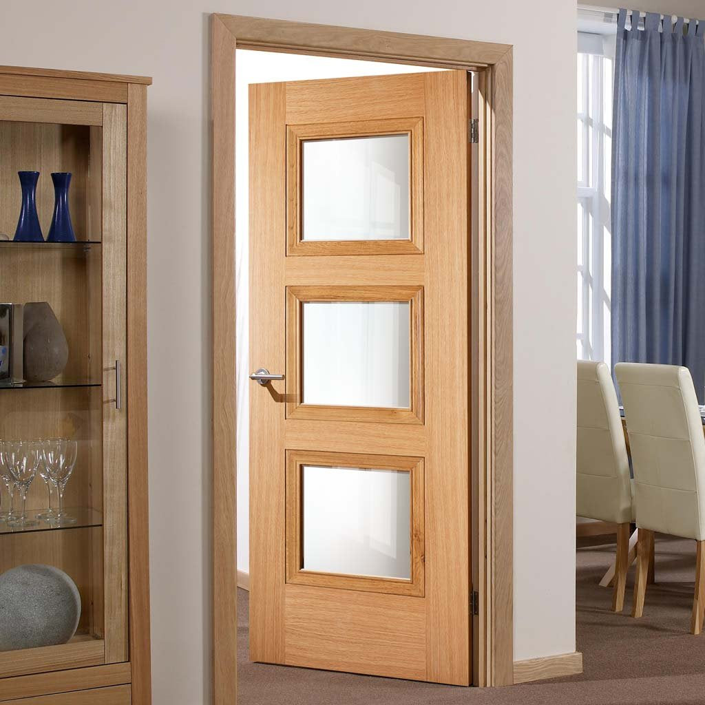 amsterdam 3l glazed oak door prefinished