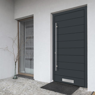Image: External Spitfire Aluminium S-200 Door - 1651 CNC Grooves Solid - 7 Colour Options