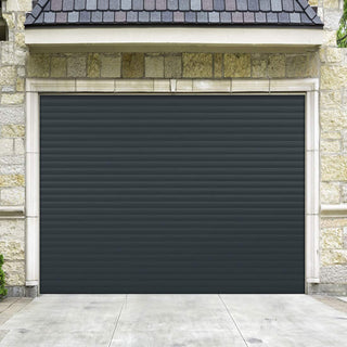 Image: Gliderol Electric Insulated Roller Garage Door from 1900 to 2134mm Wide - Anthracite