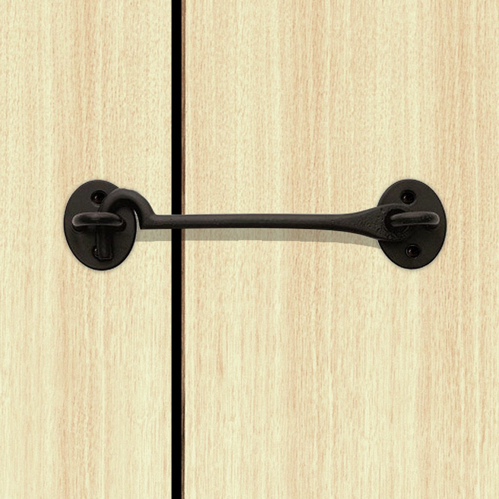 Sale - Cast Cabin Hook And Eyes 300mm Antique Black - ICH150BLK/BP