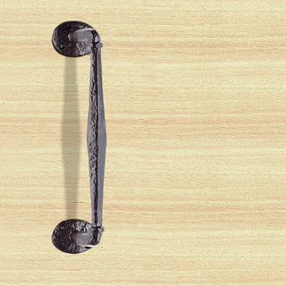 Image: Antique Black Ludlow LF5266 Offset Pull Handle on Rose - Size 242mm