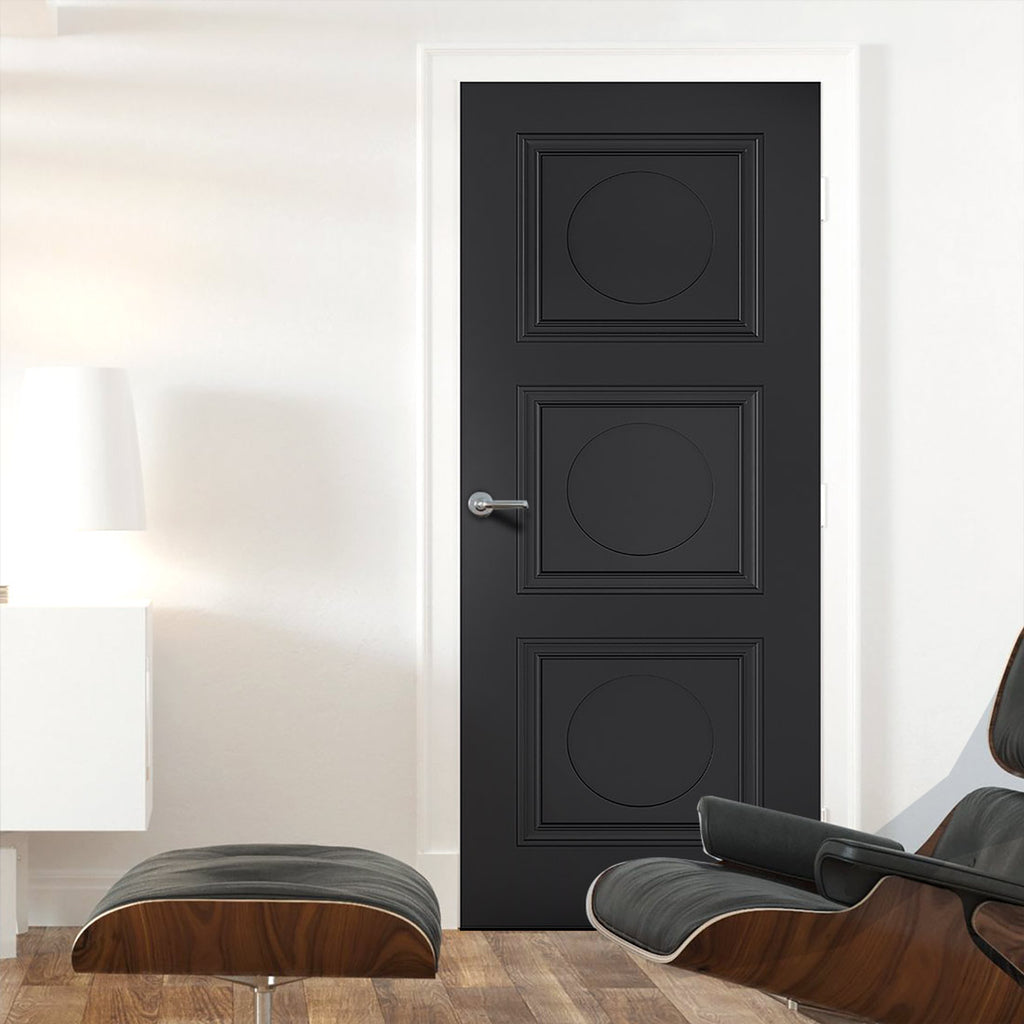 Antwerp 3 Panel Black Primed Door