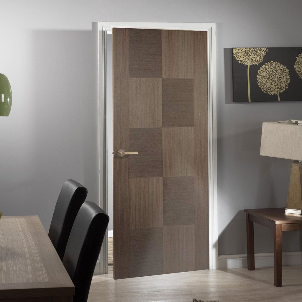 Apollo Chocolate Grey Flush Internal Door - Prefinished