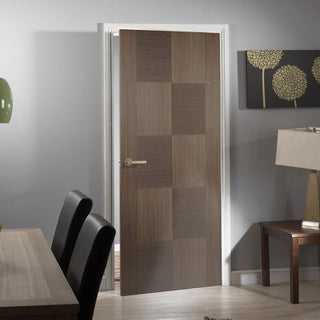 Image: Apollo Chocolate Grey Flush Internal Door - Prefinished