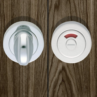 Image: European AQ11 Bathroom Turn & Release Bathroom Indicator Bolt - 3 Finishes