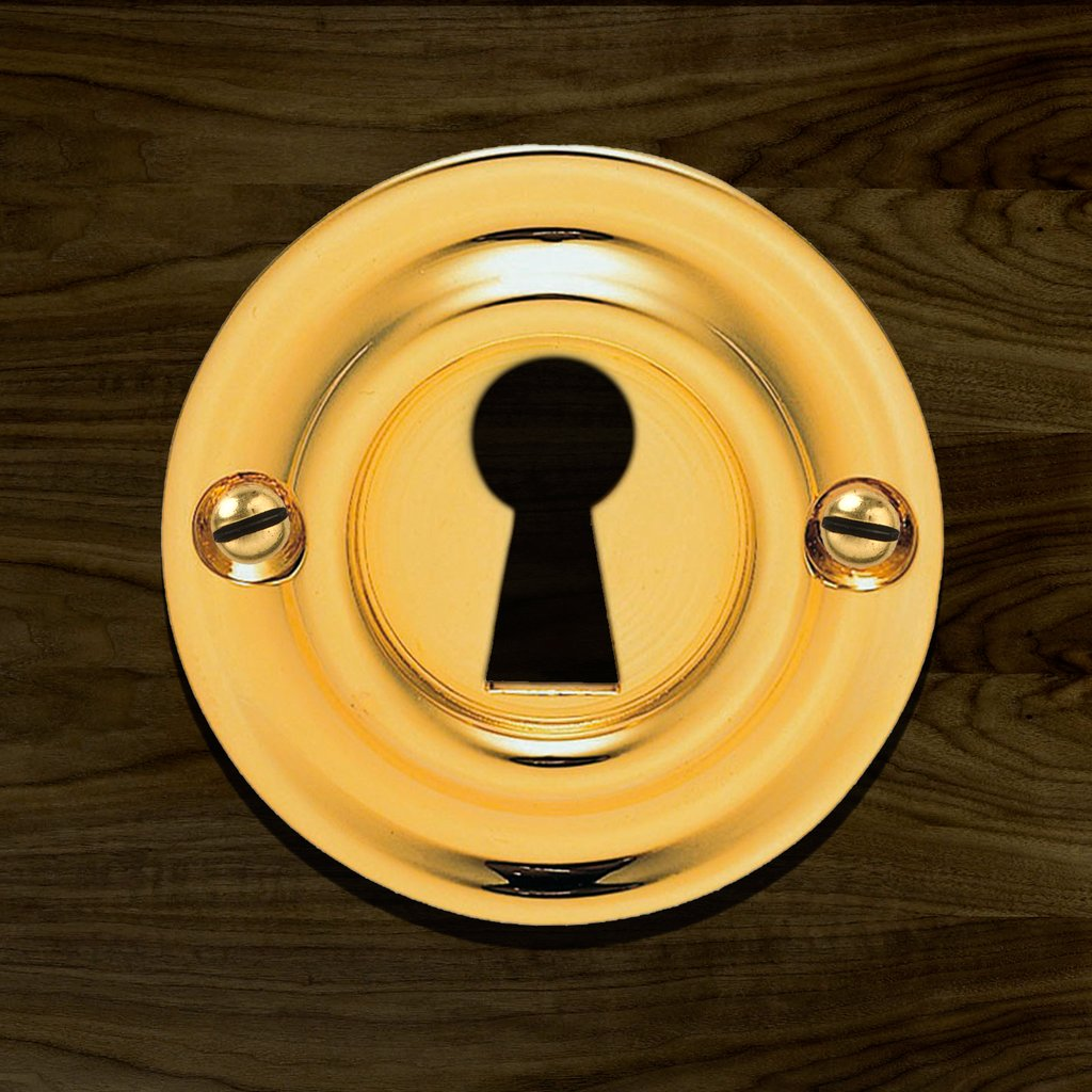 Polished Brass: Delamain AQ41 Open Escutcheon, Victorian Standard Profile