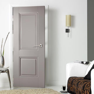 Image: Arnhem 2 Panel Grey Primed Door