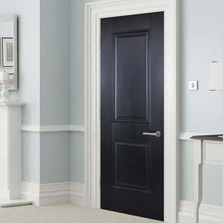 Image: Arnhem 2 Panel Black Primed Internal Door